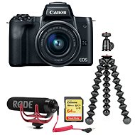Canon EOS M50 black + EF-M 15-45 mm IS STM Vlogger Kit - Digital Camera