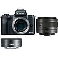 Canon EOS M50 černý + EF-M 15-45 mm IS STM + EF-M 22 mm - Digitální fotoaparát