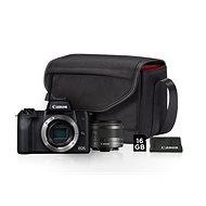 Canon EOS M50 černý + EF-M 15-45 mm IS STM Value Up Kit - Digitální fotoaparát