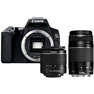 Canon EOS 250D černý + 18-55mm DC III + 75-300mm DC III