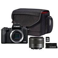 Canon EOS M50 Mark II černý + EF-M 15-45 mm IS STM Value Up Kit - Digitální fotoaparát