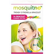 MosquitNo Summer Bracelet with Clasp, 5 Pieces (Mix of Colours) - Bracelet
