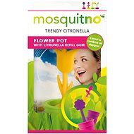 MosquitNo Decorative Flower Pot (assorted colours) - Insect Repellent