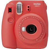Fujifilm Instax Mini 9 red + 20x Photo Paper + Case + Frame - Instant Camera