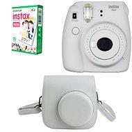 Fujifilm Instax Mini 9 bílý + 10x fotopapír + pouzdro - Instantní fotoaparát