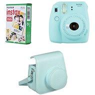 Fujifilm Instax Mini 9 světle modrý + 10x fotopapír + pouzdro - Instantní fotoaparát