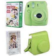 Fujifilm Instax Mini 9 limetkový + 10x fotopapír + pouzdro + rámeček - Instantní fotoaparát