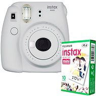 Fujifilm Instax Mini 9 white + 10x Photo Paper - Instant Camera