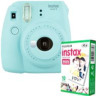 Fujifilm Instax Mini 9 Light Blue + 10x Photo Paper - Instant Camera