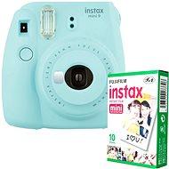 Fujifilm Instax Mini 9 světle modrý + 10x fotopapír - Instantní fotoaparát