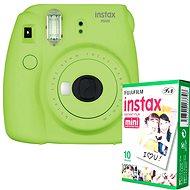 Fujifilm Instax Mini 9 limetkový + 10x fotopapír - Instantní fotoaparát