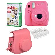Fujifilm Instax Mini 9 růžový LED bundle - Instantní fotoaparát