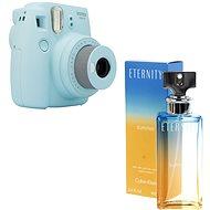 Fujifilm Instax Mini 9 světle modrý + CALVIN KLEIN Eternity Summer 2017 EdP 100 ml - Instantní fotoaparát