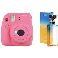 Fujifilm Instax Mini 9 růžový + CALVIN KLEIN Eternity Summer 2017 EdP 100 ml - Instantní fotoaparát