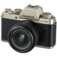 Fujifilm X-T100 zlatý + XC 15-45mm f/3.5-5.6 OIS PZ - Digitální fotoaparát
