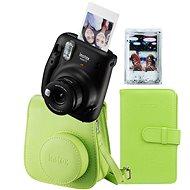 Fujifilm Instax Mini 11 černý + limetkový set příslušenství + 10x fotopapír - Instantní fotoaparát