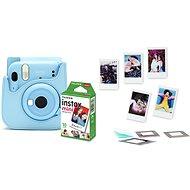 Fujifilm Instax Mini 11 světle modrý + pouzdro + 10x fotopapír + set příslušenství - Instantní fotoaparát