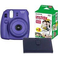 Fujifilm Instax mini 8 Grape medium kit Laporta - Instantní fotoaparát