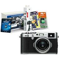 FUJIFILM FinePix X100F stříbrný + Fujifilm Foto Starter Kit - Digitální fotoaparát