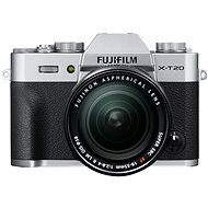 Fujifilm X-T20 stříbrný + XF 18-55mm F 2.8-4 R LM OIS - Digitální fotoaparát