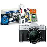 Fujifilm X-T20 stříbrný + XF 18-55mm F 2.8-4 R LM OIS + Fujifilm Foto Starter Kit - Digitální fotoaparát