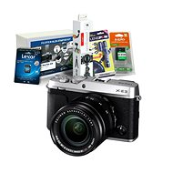 Fujifilm X-E3 stříbrný + XF 18-55mm + Fujifilm Foto Starter Kit - Digitální fotoaparát