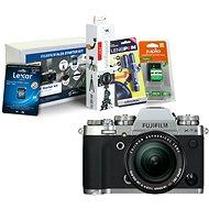 Fujifilm X-T3 stříbrný + XF 18-55 mm R LM OIS + Fujifilm Foto Starter Kit - Digitální fotoaparát