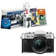 Fujifilm X-T30 stříbrný + XF 18-55mm + Fujifilm Foto Starter Kit - Digitální fotoaparát