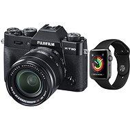 Fujifilm X-T30 černý + XF 18-55mm + Apple Watch Series 3 38mm GPS Vesmírně šedý hliník