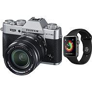 Fujifilm X-T30 stříbrný + XF 18-55mm + Apple Watch Series 3 38mm GPS Vesmírně šedý hliník - Digitální fotoaparát