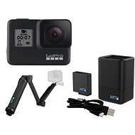 GOPRO HERO7 Black + GOPRO 3-Way Grip/Arm/Tripod + GOPRO Dual Battery Charger + Battery HERO - Digitální kamera