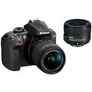 Nikon D3400 černý + 18-55 mm AF-P VR + 50 mm AF-S