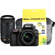 Nikon D3400 černý + 18-55mm VR + 70-300 VR + Nikon Starter Kit - Digitální fotoaparát