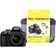 Nikon D3400 černý + 18-55mm AF-P + Nikon Starter Kit - Digitální fotoaparát