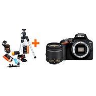 Nikon D3500 černý + 18-55mm VR + Rollei Starter Kit - Digitální fotoaparát