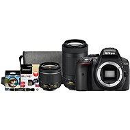 Nikon D5300 černý + 18-55mm AF-P VR + 70-300mm AF-P VR + Nikon Starter Kit - Digitální fotoaparát