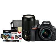 Nikon D5600 + AF-P 18-55mm VR + 70-300mm VR + Nikon Starter Kit - Digitální fotoaparát