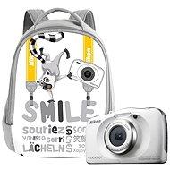 Nikon COOLPIX W100 bílý backpack kit - Dětský fotoaparát