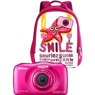 Nikon COOLPIX W100 růžový backpack kit - Dětský fotoaparát