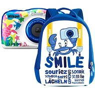 Nikon COOLPIX W100 námořní modrá backpack kit - Dětský fotoaparát