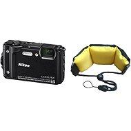 Nikon COOLPIX W300 černý + 2v1 plovoucí popruh - Digitální fotoaparát
