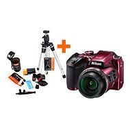 Nikon COOLPIX B500 fialový + Rollei Starter Kit