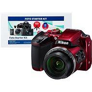 Nikon COOLPIX B500 červený + Alza Foto Starter Kit - Digitální fotoaparát