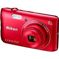 Nikon COOLPIX A300 červený - Digitální fotoaparát