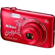 Nikon COOLPIX A300 červený lineart - Digitální fotoaparát