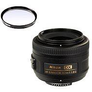 NIKKOR 35mm f/1.8 AF-S DX + UV filtr Hama 0-HAZE - Objektiv