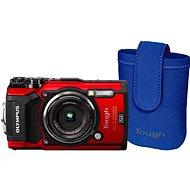 Olympus TOUGH TG-5 červený + Tough Neoprene Case - Digitální fotoaparát