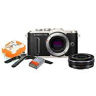 Olympus PEN E-PL8 černý + Pancake objektiv ED 14-42EZ černý + Travel kit - Digitální fotoaparát