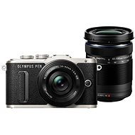 Olympus PEN E-PL8 černý + Pancake objektiv ED 14-42 mm EZ černý + objektiv ED 40-150 mm černý - Digitální fotoaparát
