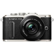 Olympus PEN E-PL8 - black + 14-42 mm EZ ED Pancake Lens - black + Olympus Starter Kit - Digital Camera